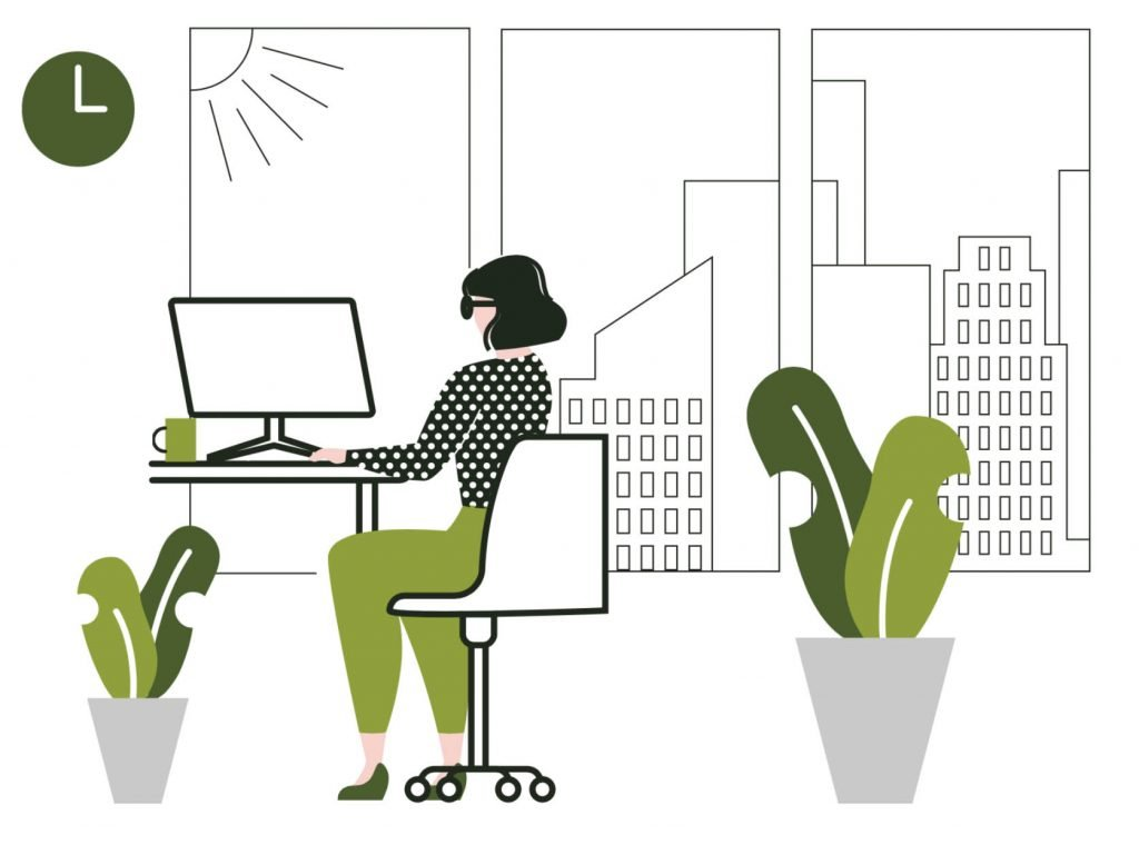 Infographic showing the benfits of biophilic design for offices